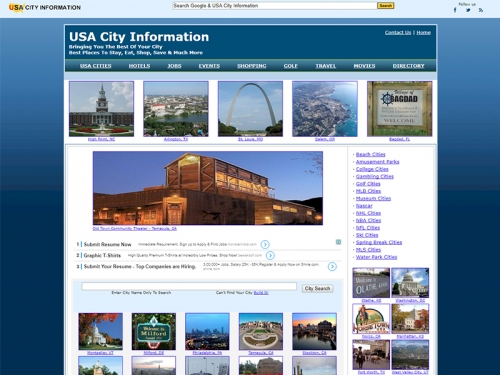 USA City Information